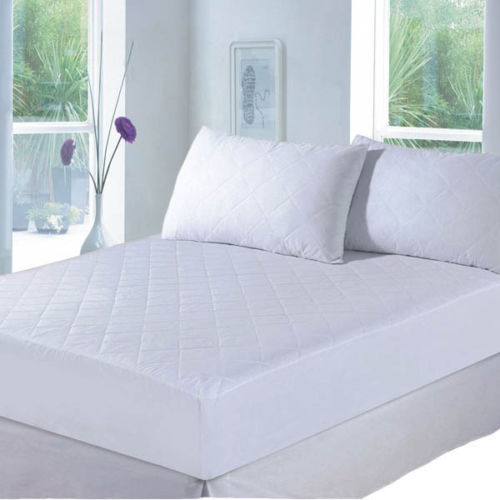 EXTRA DEEP QUILTED MATRESS MATTRESS PROTECTOR FITTED BED COVER